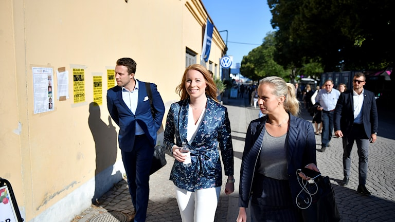 Partiledare Annie Lööf(C) under Centerpartiets  dag i Almedalen.