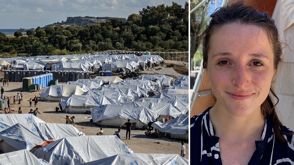 Flyktingläger med tält och läkaren Karolien Janssens.