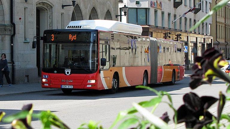Biogasbuss. Foto: Östgötatrafiken
