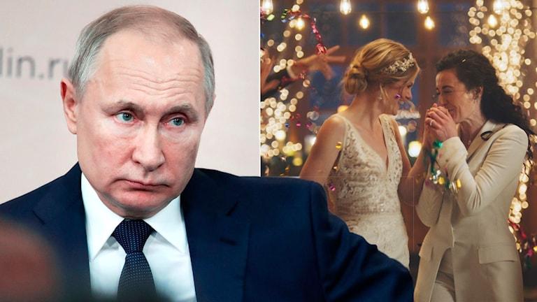 Putin säger skarpt nej till samkönade äktenskap