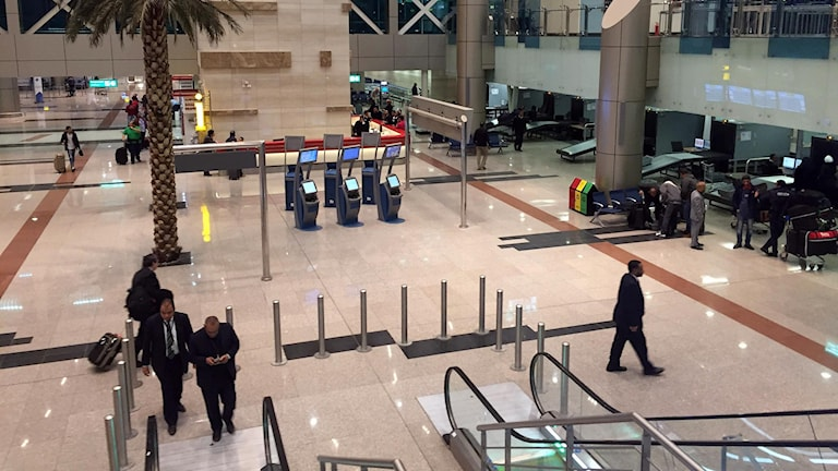 bild inifrån flygplatsen i Kairo