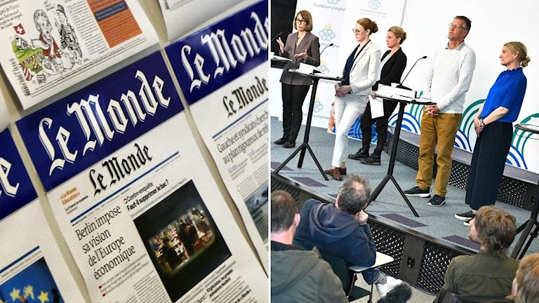 Le Monde, Folkhälsomyndighetens dagliga pk