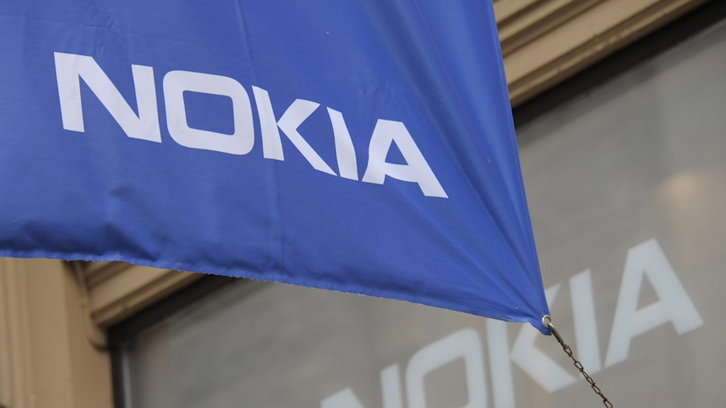 Flagga med Nokias logga