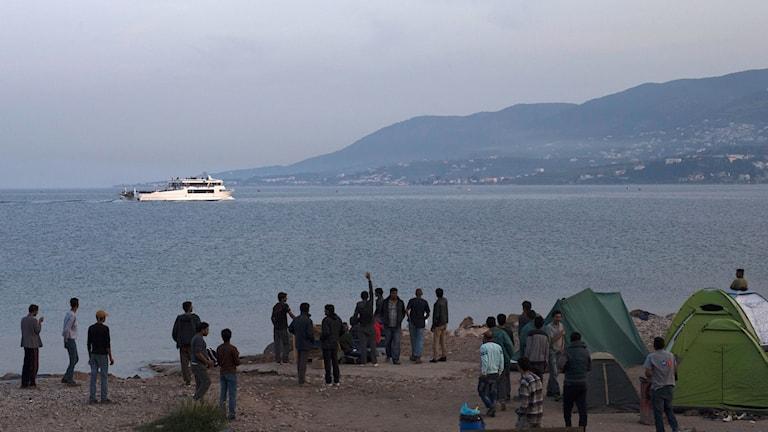 Asylsökande som nått Grekland.