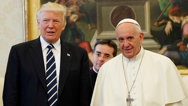 USA:s president Donald Trump och påve Franciskus.