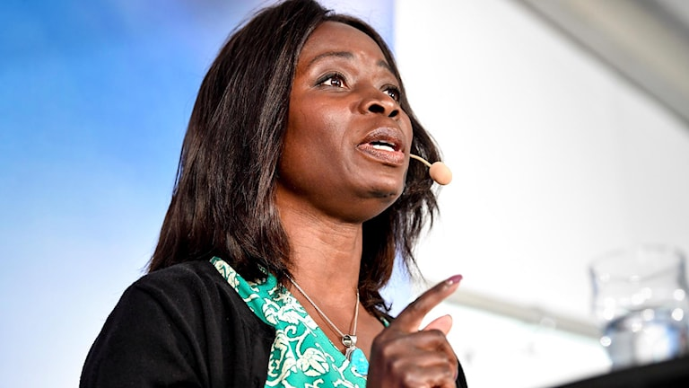 Liberalernas partiledare Nyamko Sabuni på politikerveckan i Almedalen.
