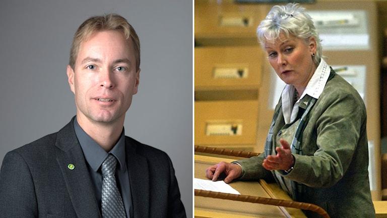 Jonas Eriksson och Lotta Hedström