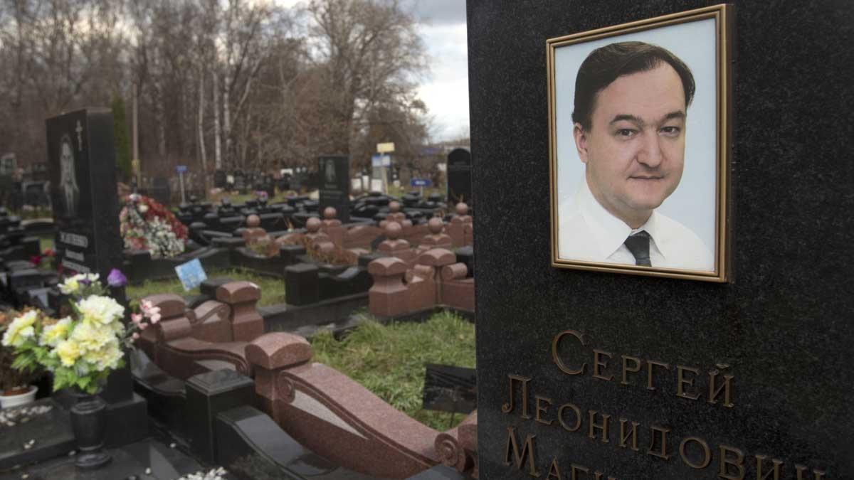 Advokaten Sergej Magnitskijs grav i Moskva. Foto: Misha Japaridze/Scanpix