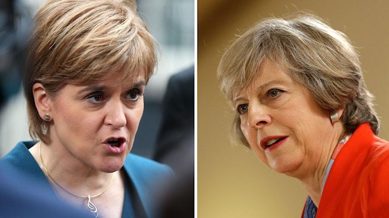 Skottlands försteminister Nicola Sturgeon och Storbritanniens premiärminister Theresa May