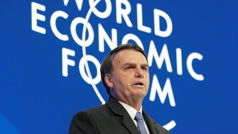Brasiliens nye president Jair Bolsonaro är en av huvudtalarna på Världsekonomiskt forum i Davos.