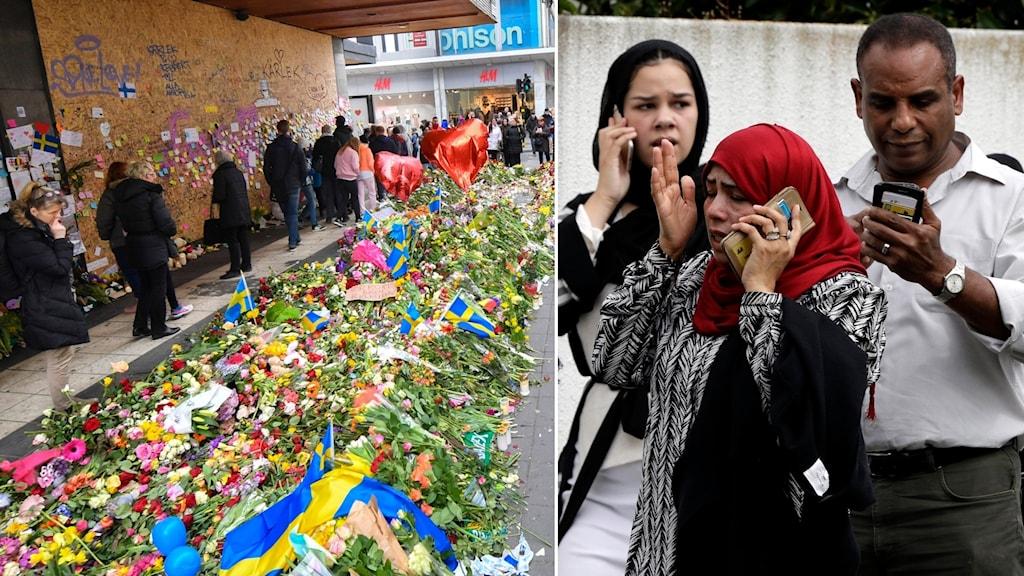 Terrordåden på Drottninggatan och i Christchurch.