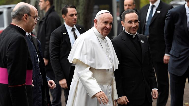 Påve Franciskus i Lund.