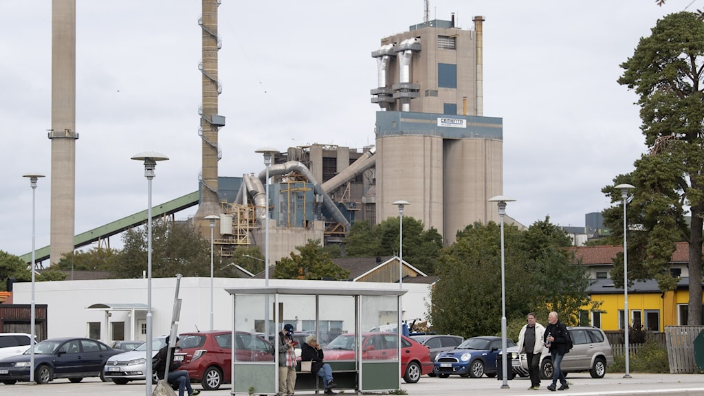 Cementas cementfabrik i Slite på Gotland