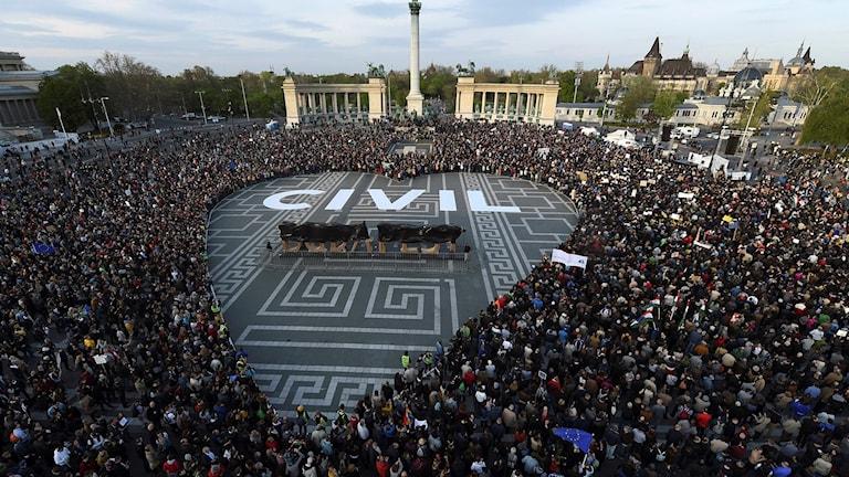 Demonstration i Ungern.