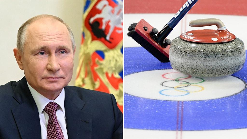 Vladimir Putin och OS i curling i Sotji 2014