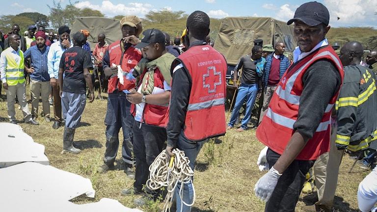 Hjälparbetare i Kenya.
