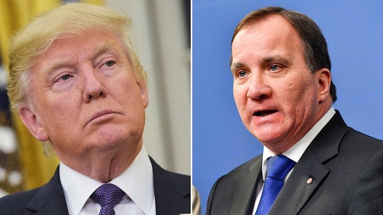 USA:s president Donald Trump och Sveriges statsminister Stefan Löfven.