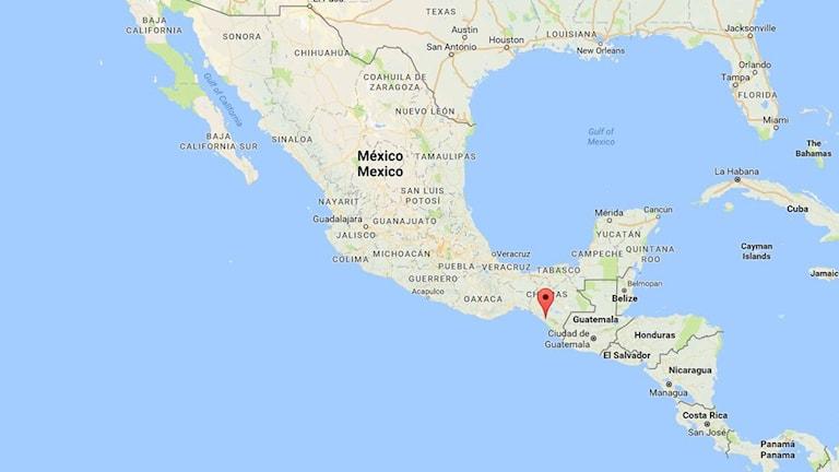Kraftig jordbävning i södra Mexiko