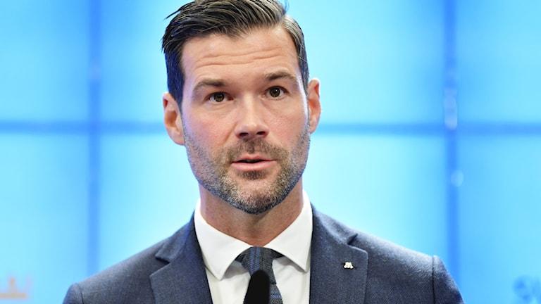 Johan Forssell, rättspolitisk talesperson för Moderaterna