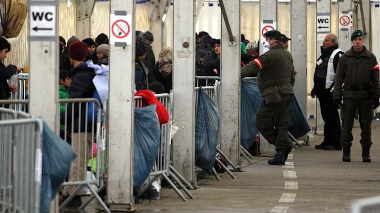 Gränskontroll mellan Slovenien och Österrike