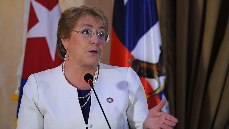 Chiles president Michelle Bachelet.