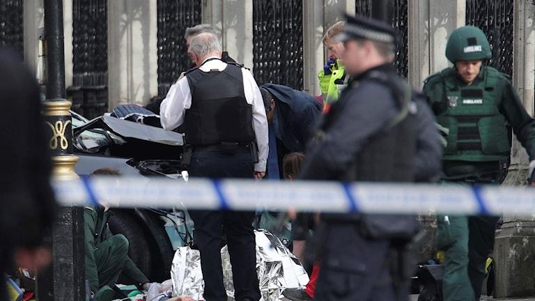 Attack vid brittiska parlamentet.