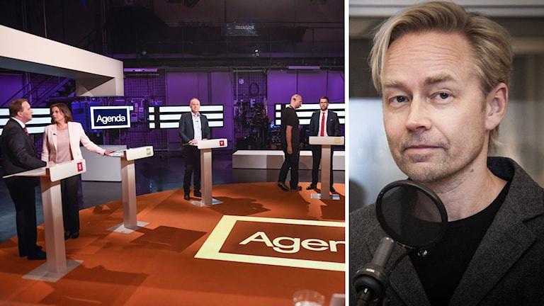 Partiledardebatten i SVT och Fredrik Furtenbach.