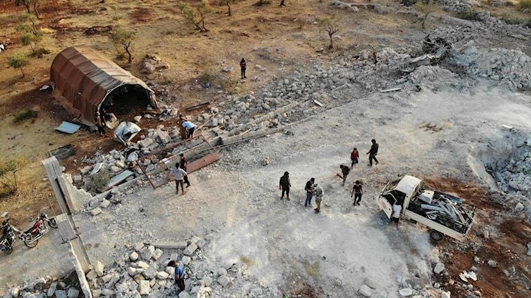Området där al-Baghdadi uppges ha dödats