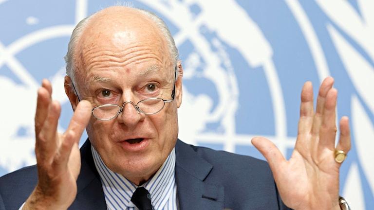 FN:s särskilda sändebud Staffan de Mistura.