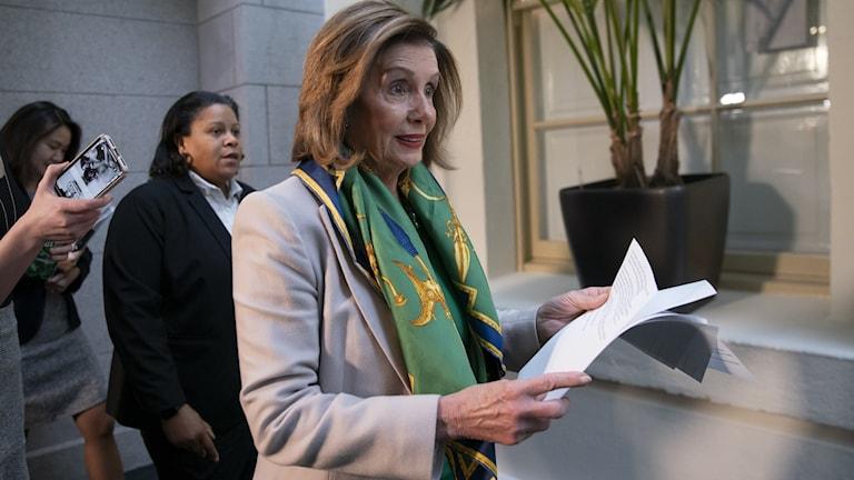 Talmannen Nancy Pelosi.