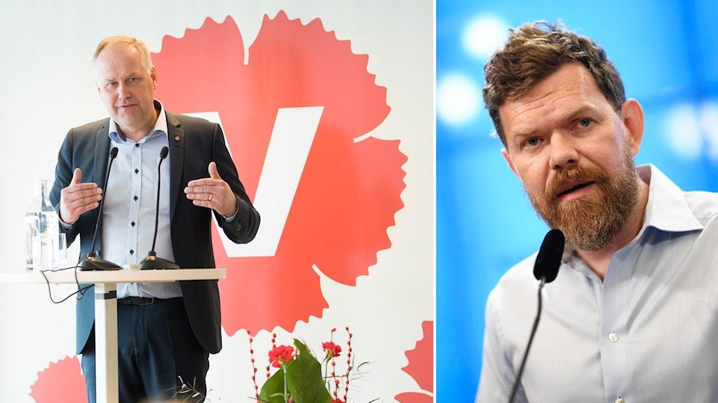 Vänsterpartiets Jonas Sjöstedt och Aron Etzler.