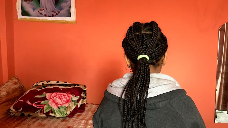 Girl with braided hair