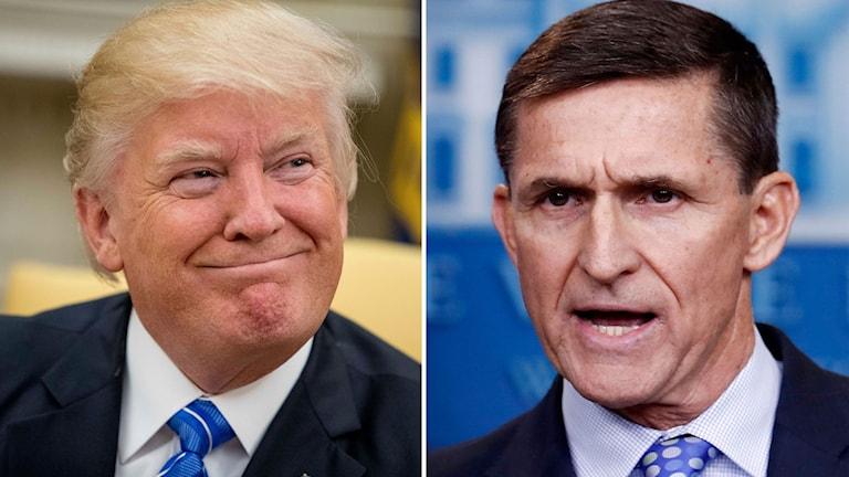 Delad bild: Donald Trump och förre nationella säkerhetsrådgivaren Michael Flynn.