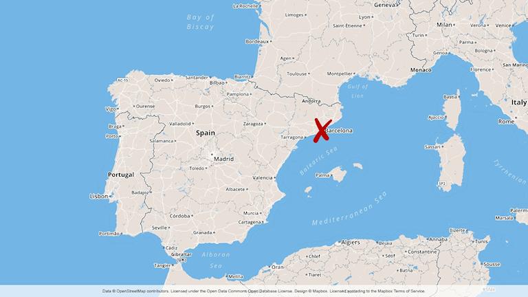 karta över Spanien