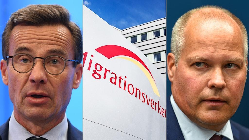Ulf Kristersson, Moderaternas partiledare, Migrationsverket, Morgan Johansson, justitieminister