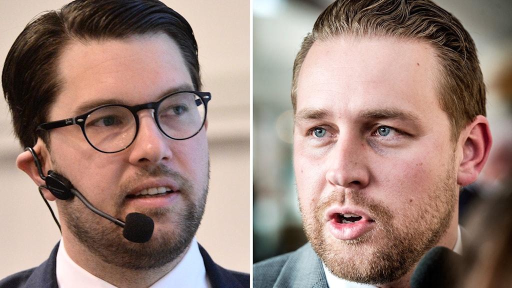 SD-ledaren Jimmie Åkesson och partiets gruppledare Mattias Karlsson.