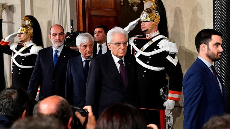 Italiens president Sergio Mattarella.