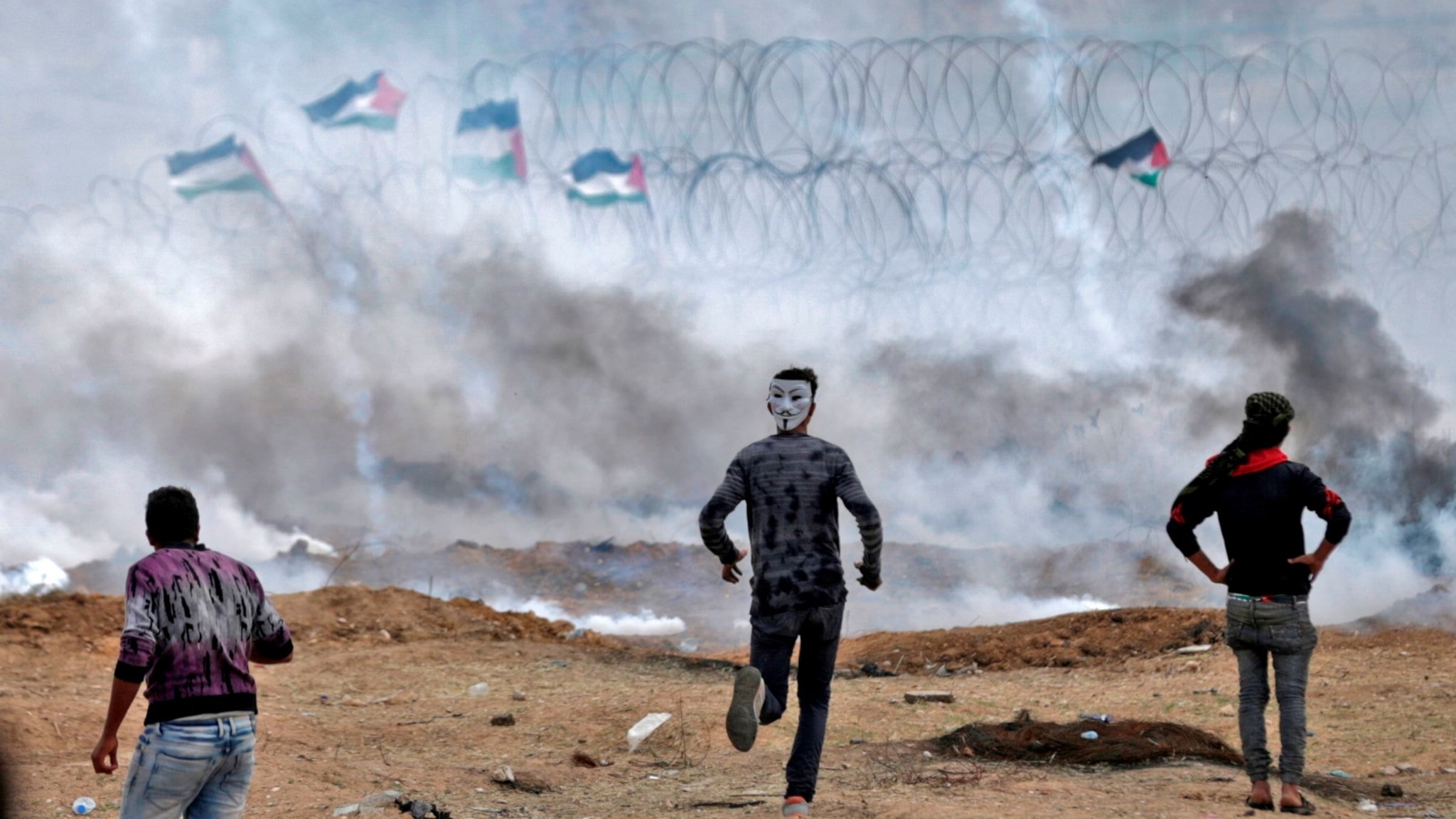 Från historiskt möte i Korea till skotten i Gaza