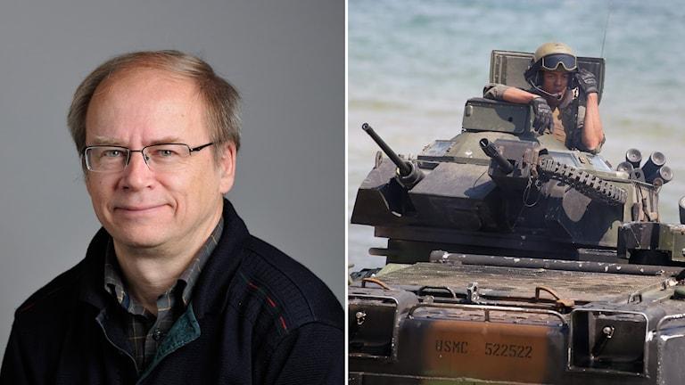 Walter Mutt, och bild från Nato-ledd övning i Sverige