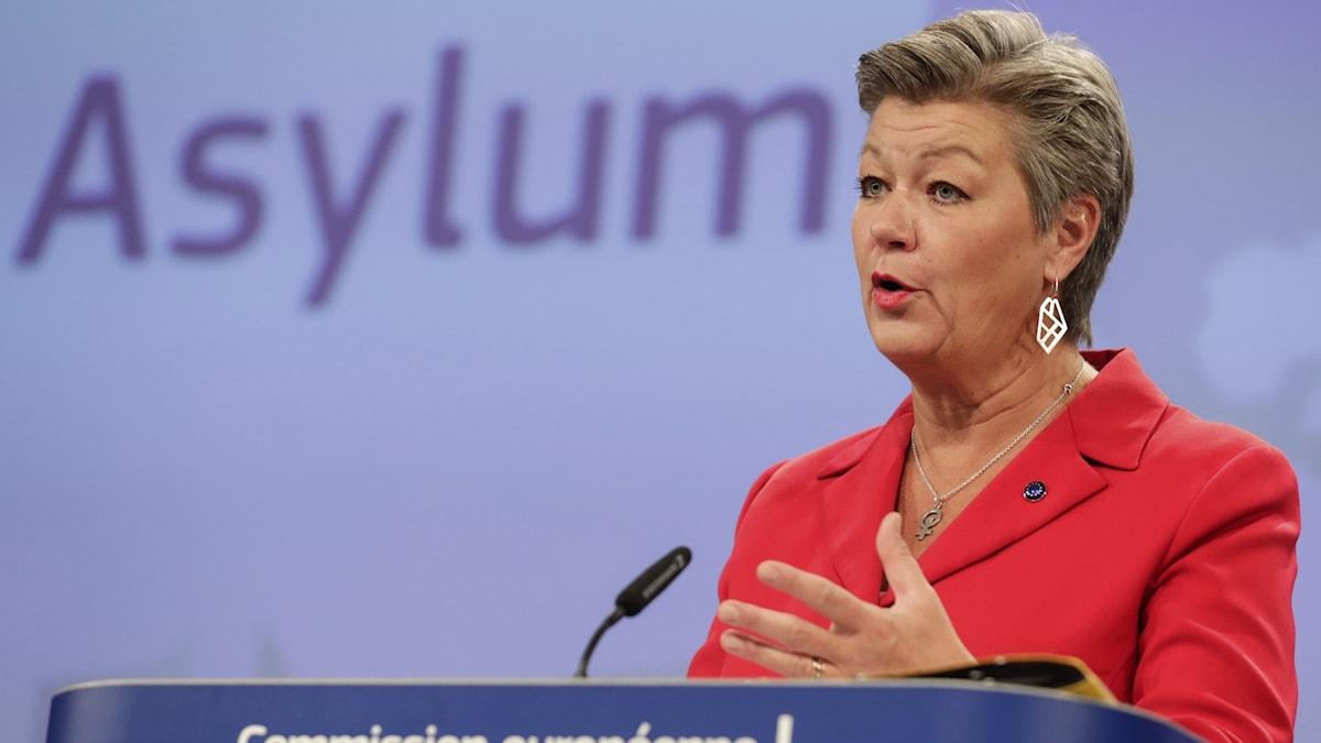 Asyl- och inrikeskommissionären Ylva Johansson (S)