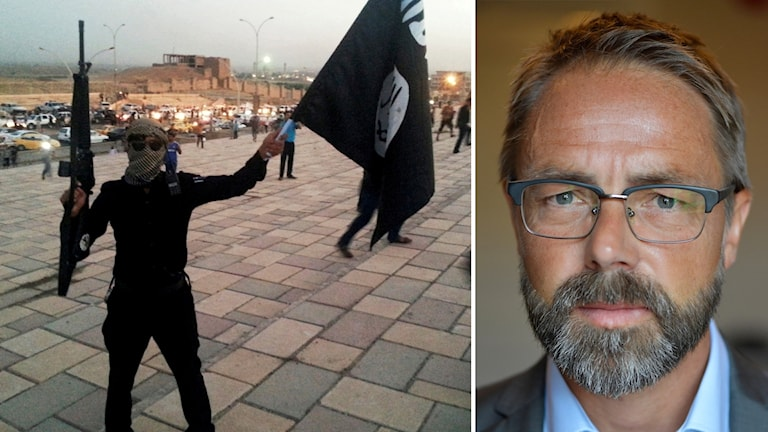 Arkivbild, IS-terrorist i Mosul i norra Irak. Hans Ihrman är vice chefsåklagare på Riksenheten för säkerhetsmål.