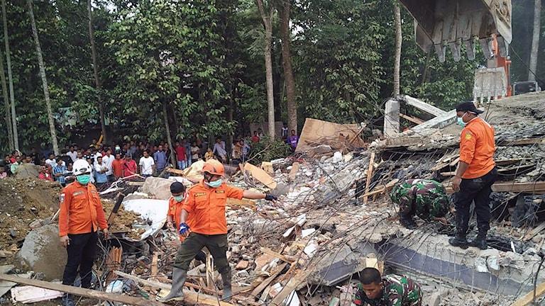 Jordskalv i Aceh i Indonesien.