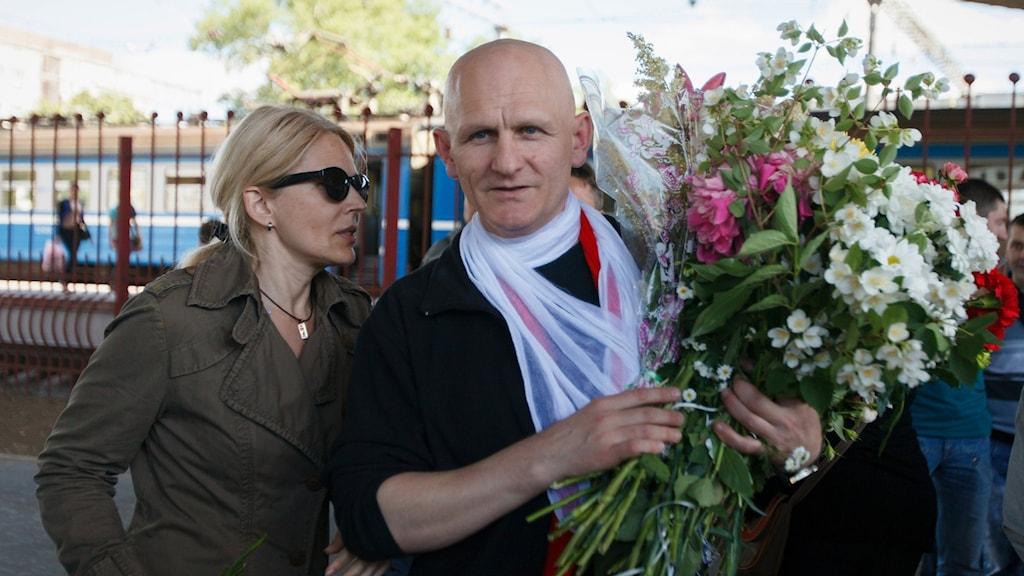 Right livelihood-pristagaren Ales Bjaljatski.