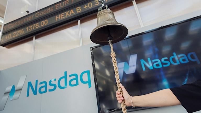 Genrebilder på Stockholmsbörsen Nasdaq.