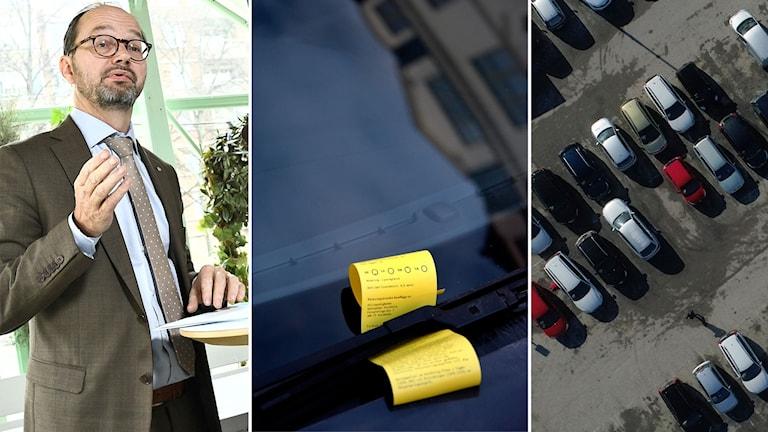 Tomas Eneroth kommenterar problemet med bilmålvakter.