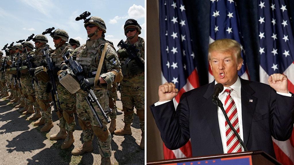donald trump, amerikanska soldater