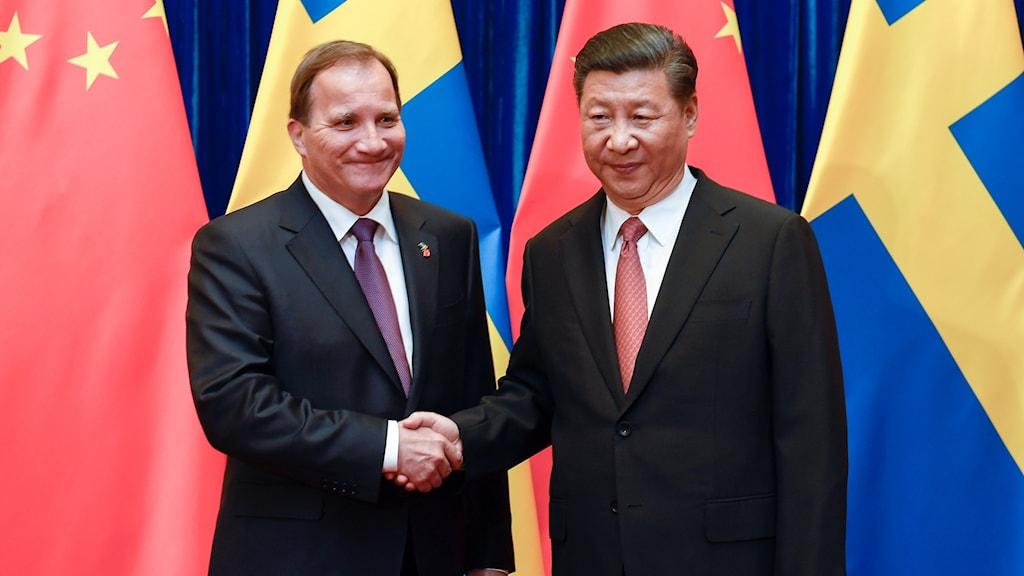 Statsminister Stefan Löfven träffade Kinas president Xi Jinping.