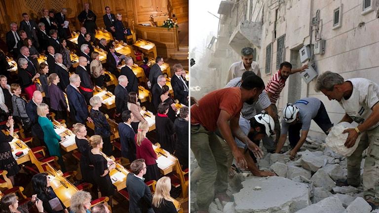 Bild från banketten 2015 i montag med vita hjälmarna i syrien