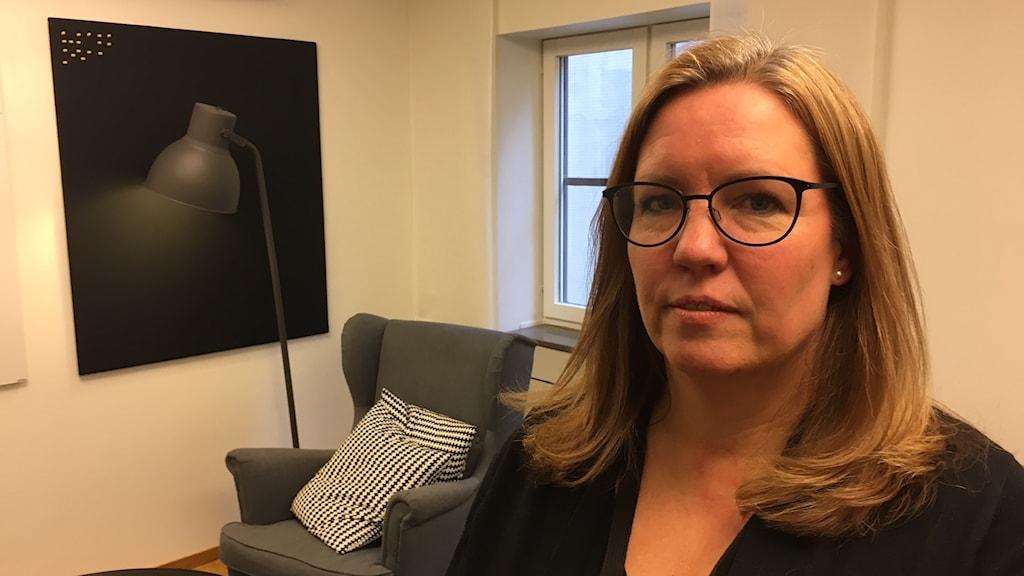 Lena Maier Söderberg, chefsjurist på Saco. Foto: Anders Jelmin/Sveriges Radio