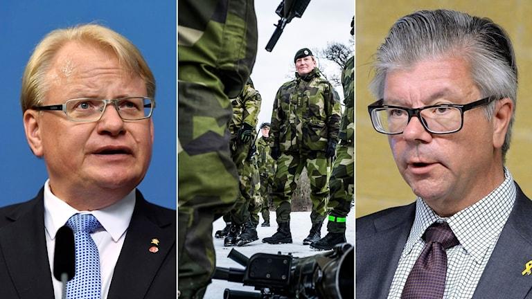 Försvarsminister Peter Hultqvist och Moderaternas försvarspolitiska talesperson Hans Wallmark debatterade i P1 Morgon.
